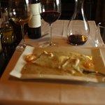 sakana, seafish, thick (rich)soup,Red wine OK