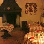 La sala del camino, dove ho mangiato io