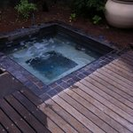 small spa (not hot) just next to our room.