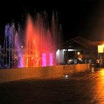 The musical fountain that is situated beside the hotel.