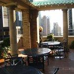 Concierge Lounge's outside terrace!