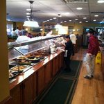 buffet line at Fred's