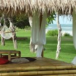 Relaxing on the beach in our traditional beruga or of course in a hammock...