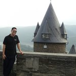 Me overlooking Castle Bacharach.