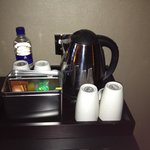Tea coffe an water tray