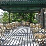 terrace of main bar