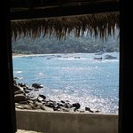 Looking out straight onto Yelapa bay.