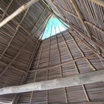 Our vaulted, thatched ceiling.
