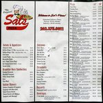 Sal's Pizza Cedarburg Menu
