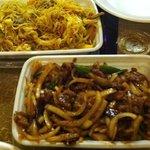 Singapore Mi Fun & Mongolian Beef
