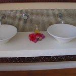 Double basins in bathroom