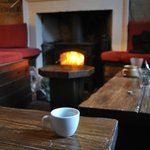My espresso surveys the Mooch, perhaps the perfect spot to drink coffee