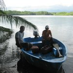 the mangrove and te boat we took out