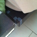 tape to keep the bed together