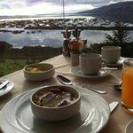 delicioso desayuno con hermosa vista...