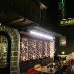 Restaurant Stadl view from outside in December.