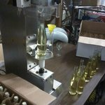 Installing corks into just bottled 2011 Muscat Alexandria