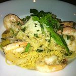 Angel hair with shrimp for the wife