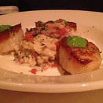 Scallops with risoto