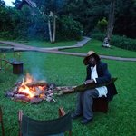 This is Warren.  He plays his African harp everynight.  ...quite enjoyable durring sunset