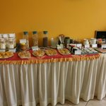 Complimentary breakfast bar at Torre Dorada... not pictured is the hot egg/omelet station
