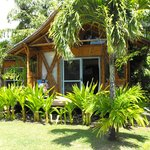 cute island style bungalows