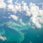 Flying into Exuma