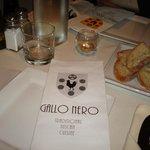 Gallo Nero table and menu--and great bread!