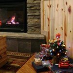 Fire place and mini-Christmas tree