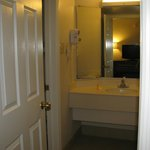 Bathroom vanity area.