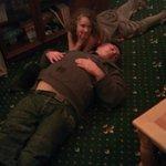 Paul sleeping off dinner