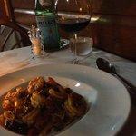 pasta main course - tagliolini with shrimp (no scallops)