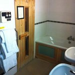 sauna, bath and double sinks