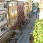 Street view from breakfast terrace
