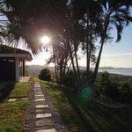 Habitaciones y la vista al mar