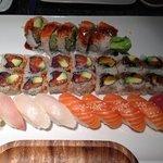 Shrimp Tempura Roll, Christmas Roll, Eel Avocado Roll & Nigiri