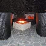 Fire pits throughout grounds