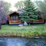 one of the cabins overlooking the creek
