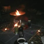 The staff helped me set up a candle lit dinner for my husband and I by the fire pit