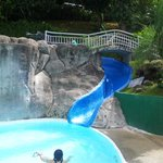 Main pool with water slide