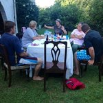 summer dinner braai with guests