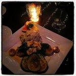 petite filet with scallops, amazing