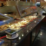 One of many buffet counters.