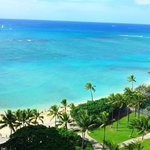 Amazing view of waikiki beach and ocean from Lanai of apartment