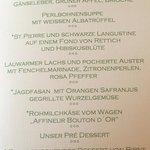 menu Douce