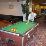 the games room with pool darts & table tennis