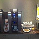 Machines à café et jus de fruit