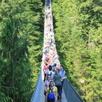 Suspension Bridge at busy time
