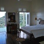 Das Zimmer mit Sicht auf die Bucht