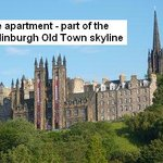 Location of the apartments - on Edinburgh's famous skyline